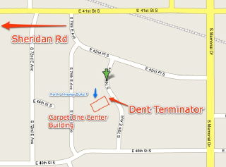 map for paintless dent removal Tulsa by Dent Terminator