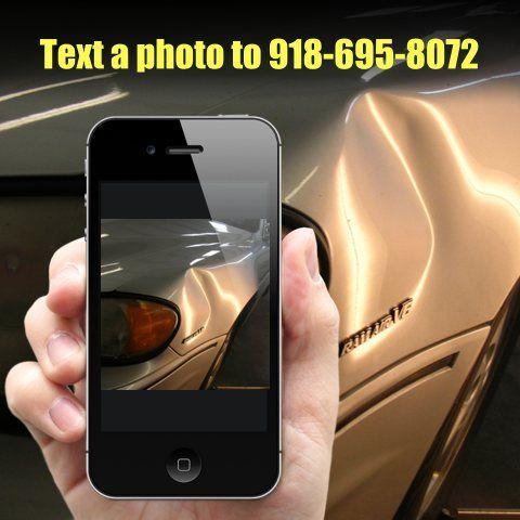 send a photo of dent to Dent Terminator Tulsa